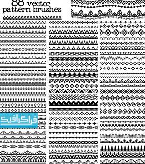 دانلود وکتور اشکال تقسیم کننده - طرح تزئینی - رایگان