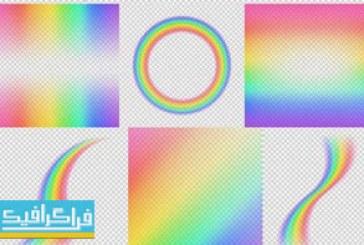 دانلود وکتور طرح های رنگین کمان – شماره 2