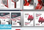 دانلود وکتور پوستر های تبلیغاتی قرمز – رایگان