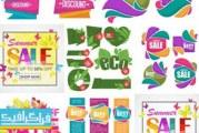 دانلود وکتور برچسب و بنر های فروش ویژه و تخفیف