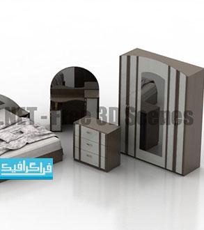 دانلود مدل سه بعدی سرویس خواب - رایگان