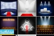 دانلود وکتور اتاق های تبلیغات و نمایش با نور – شماره 4