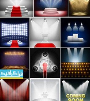دانلود وکتور اتاق های تبلیغات و نمایش با نور - شماره 4