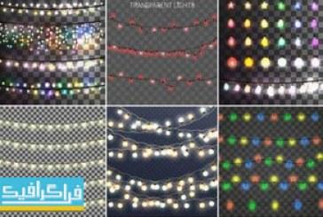 دانلود وکتور ریسه های لامپ رنگارنگ