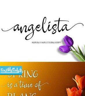 دانلود فونت انگلیسی دستخط Angelista