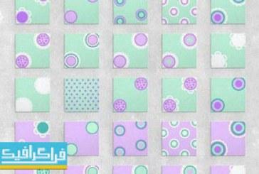 دانلود پترن های دایره ای شکل – وکتور و فایل تصویری
