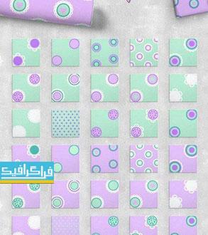 دانلود پترن های دایره ای شکل - وکتور و فایل تصویری