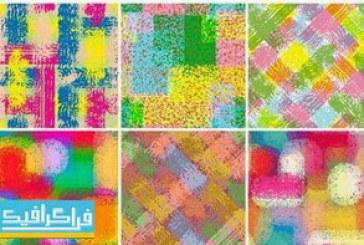 دانلود وکتور پترن های رنگارنگ – طراحی کاغذ دیواری و پارچه