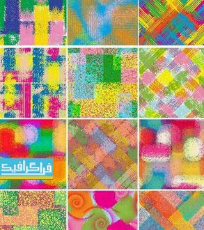 دانلود وکتور پترن های رنگارنگ - طراحی کاغذ دیواری و پارچه