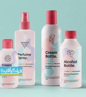 دانلود ماک آپ فتوشاپ بطری محصولات آرایشی بهداشتی