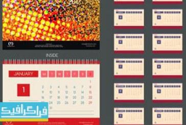 دانلود وکتور طرح های تقویم رومیزی – شماره 4