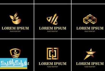 دانلود لوگو های طلایی مختلف – لایه باز وکتور – شماره 1