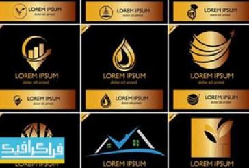 دانلود لوگو های طلایی مختلف – لایه باز وکتور – شماره 3
