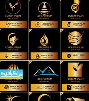 دانلود لوگو های طلایی مختلف - لایه باز وکتور - شماره 3
