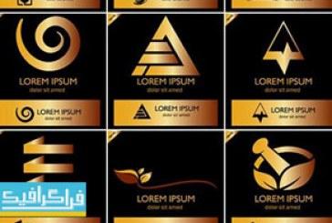 دانلود لوگو های طلایی مختلف – لایه باز وکتور – شماره 4