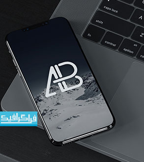 دانلود ماک آپ فتوشاپ موبایل آیفون 8 - رایگان