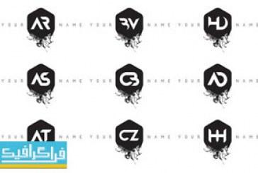 دانلود لوگو های حروف انگلیسی مدرن طرح جوهر – شماره 2