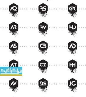دانلود لوگو های حروف انگلیسی مدرن طرح جوهر - شماره 2