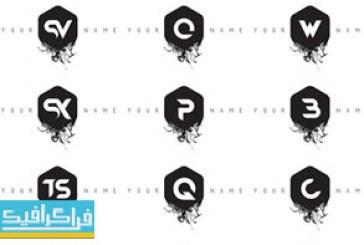 دانلود لوگو های حروف انگلیسی مدرن – طرح جوهر