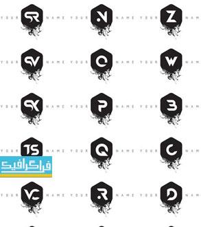 دانلود لوگو های حروف انگلیسی مدرن - طرح جوهر