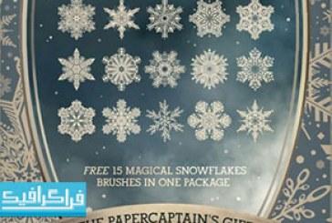 دانلود براش فتوشاپ دانه های برف جادویی – رایگان