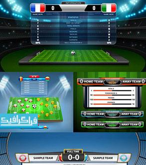 دانلود وکتور طرح های آمار و نتایج بازی فوتبال - رایگان