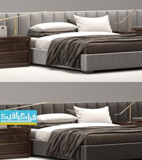 دانلود مدل سه بعدی تختخواب مدرن - شماره 3