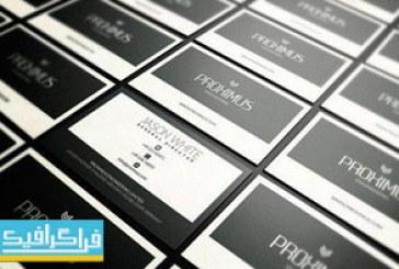 دانلود کارت ویزیت مدرن خاکستری – لایه باز فتوشاپ