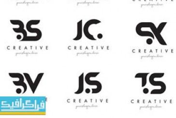 دانلود لوگو های حروف ترکیبی انگلیسی مدرن – لایه باز وکتور
