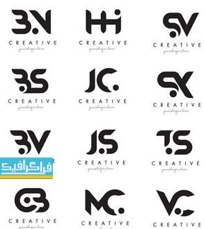 دانلود لوگو های حروف ترکیبی انگلیسی مدرن - لایه باز وکتور