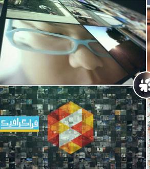 دانلود پروژه افتر افکت نمایش لوگو - ویدیو وال چندتایی