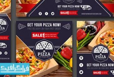 دانلود وکتور بنر های وب تبلیغاتی پیتزا – رایگان