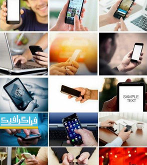 دانلود تصاویر استوک گوشی موبایل هوشمند در دست
