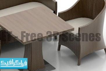 دانلود مدل سه بعدی میز و صندلی – رایگان