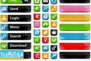 دانلود وکتور های عناصر طراحی صفحات وب – شماره 3