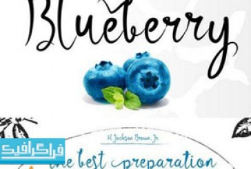 دانلود فونت انگلیسی دستخط Blueberry