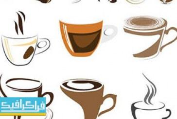 دانلود لوگو های فنجان قهوه – لایه باز وکتور
