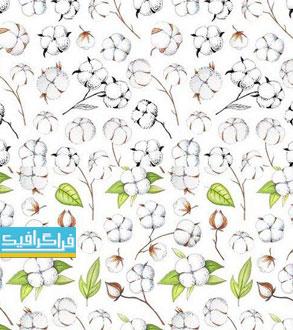 دانلود پترن های گل پنبه - فایل تصویری