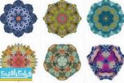 دانلود وکتور طرح های گلدار تزئینی – شماره 7