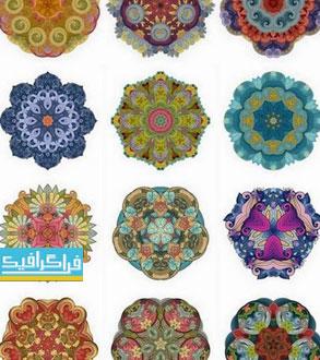 دانلود وکتور طرح های گلدار تزئینی - شماره 7