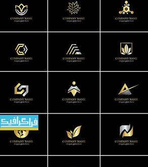 دانلود لوگو های طلایی مختلف - لایه باز وکتور - شماره 7