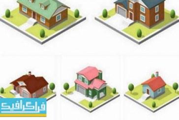 دانلود وکتور خانه های ایزومتریک 3 بعدی