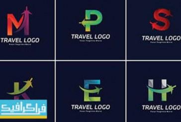دانلود لوگو های مسافرت حرف انگلیسی – لایه باز وکتور