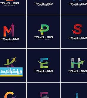 دانلود لوگو های مسافرت حرف انگلیسی - لایه باز وکتور