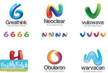 دانلود لوگو های حروف انگلیسی لایه باز وکتور – شماره 8