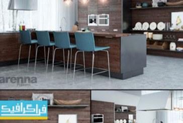 دانلود مدل سه بعدی آشپزخانه مدرن – 3D Modern Kitchen