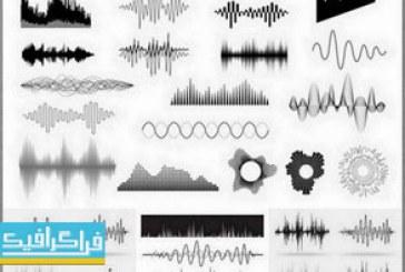 دانلود وکتور طرح های امواج صدا