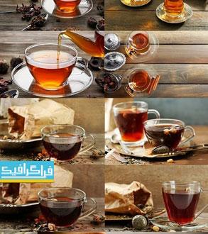 دانلود تصاویر استوک چای در استکان - محیط زیبا