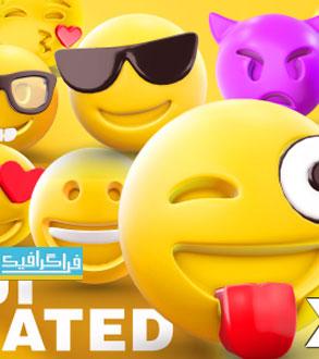 دانلود پروژه افتر افکت اموجی های 3 بعدی متحرک - 3D Emoji Animated