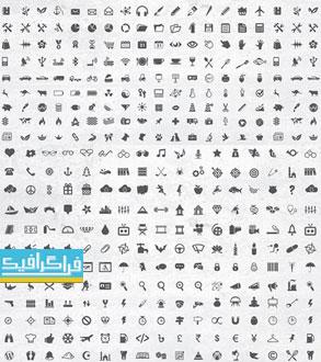 دانلود 400 آیکون فلت لایه باز وکتور و فتوشاپ - Flat Icons